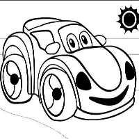 машина с солнцем