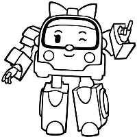 девочка робот