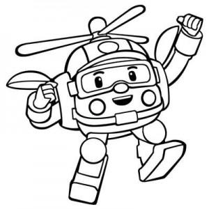 робот вертолет