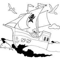 корабль с пиратом