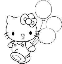 котик с шарами