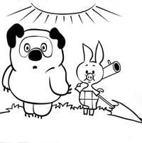 мишка и свинка