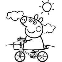 свинка на велосипеде
