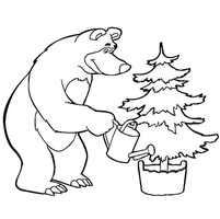 мишка и елка