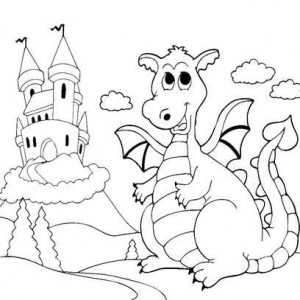дракон и замок