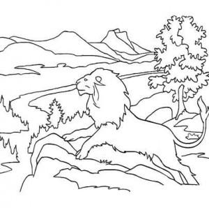 лев и природа
