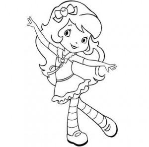 девочка с клубничкой