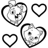 кот и пес в сердце