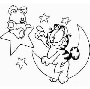 кот на луне