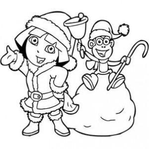 обезьянка с снегурочкой