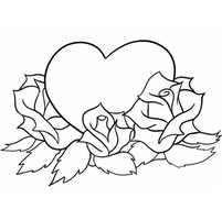 Сердце в цветах