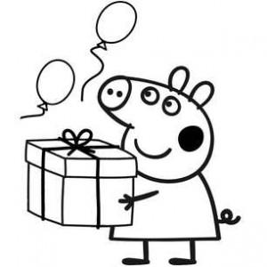 свинка с подарком