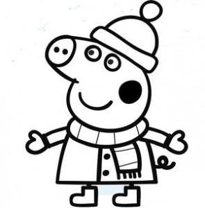свинка зимой