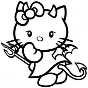 Кошка с рожками