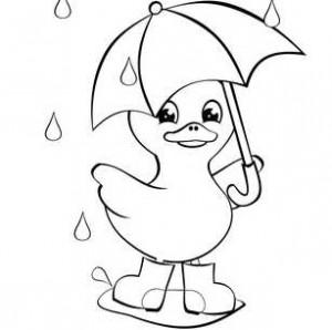 Утенок с зонтом