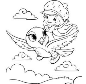 девочка на птичке