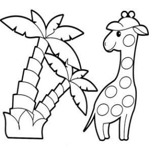 Жираф и пальма