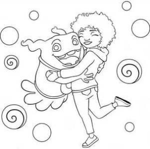 Инопланетянин с девочкой