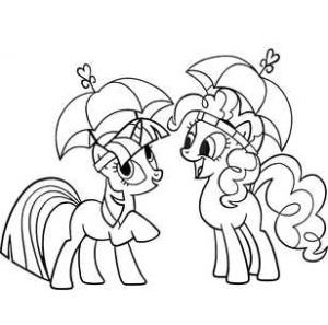 Пони с зонтиками