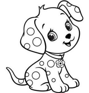 Пятнистый щенок