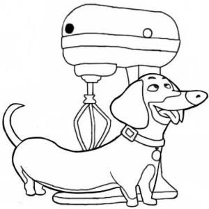 Собачка и миксер