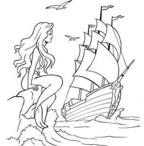 Русалка и корабль
