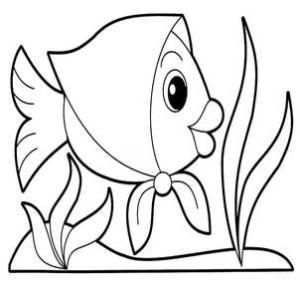 Рыбка и водоросли