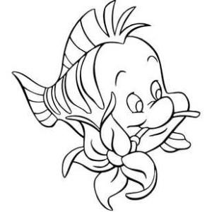 Рыбка с цветком