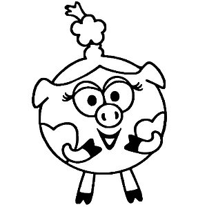 Свинка с косичкой