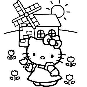 Кошечка на ферме