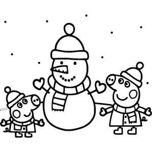 Свинки и снеговик