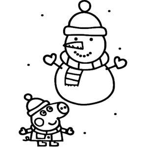 Свинка и снеговик