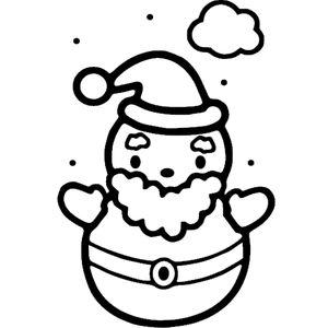 Круглый снеговик