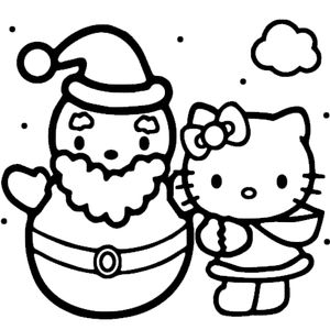 Кошка и снеговик