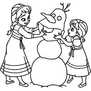 Девочки и снеговик