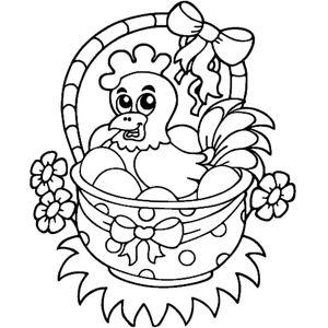 Курица в корзине