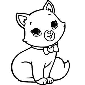 Котик с клубничкой