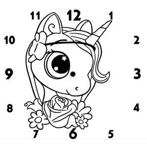 часы единорожка